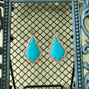 TURQUOISE/TEAL BLUE KENDRA SCOTT EARRINGS